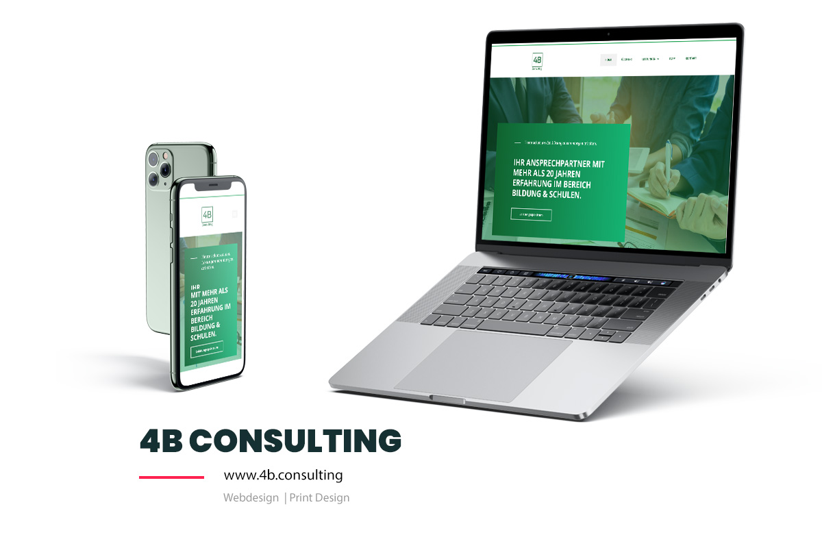 Referenz Showcase Webdesign 4b consulting