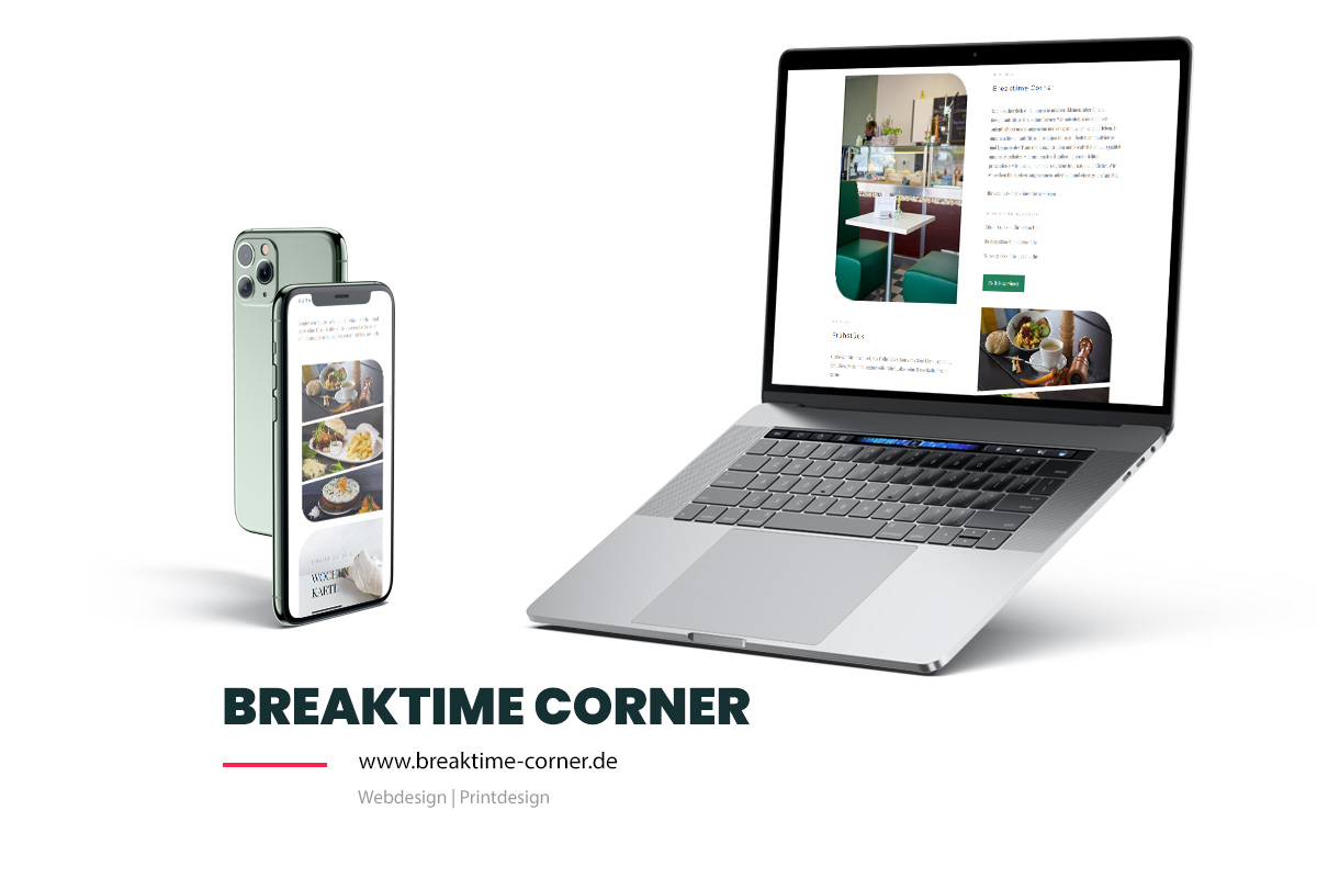 Referenz Showcase Webdesign - Breaktime Corner