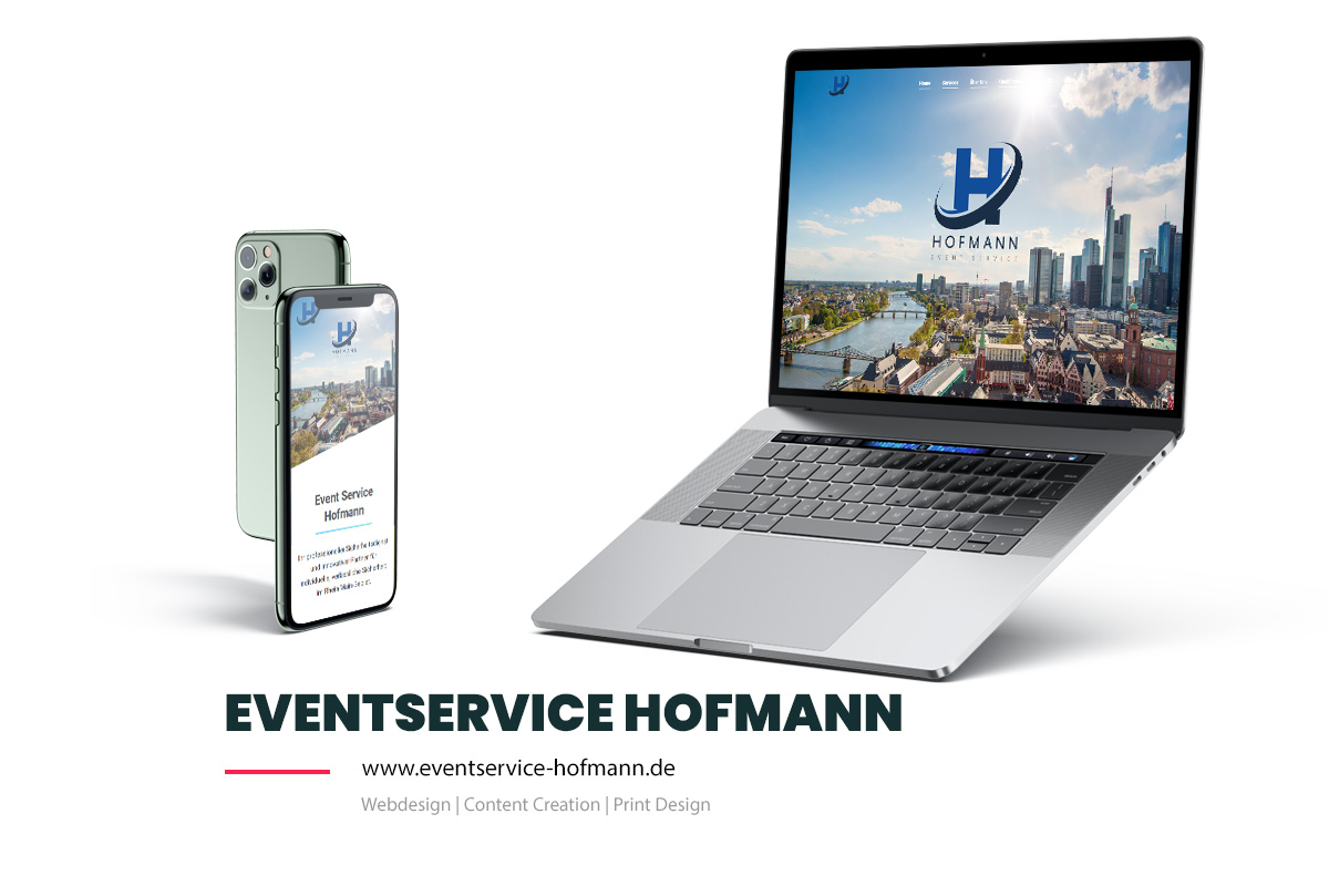 Referenz Showcase Webdesign -Eventservice Hofmann
