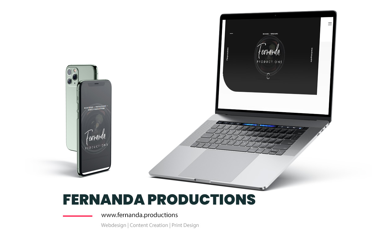 Referenz Showcase Webdesign - Fernanda productions