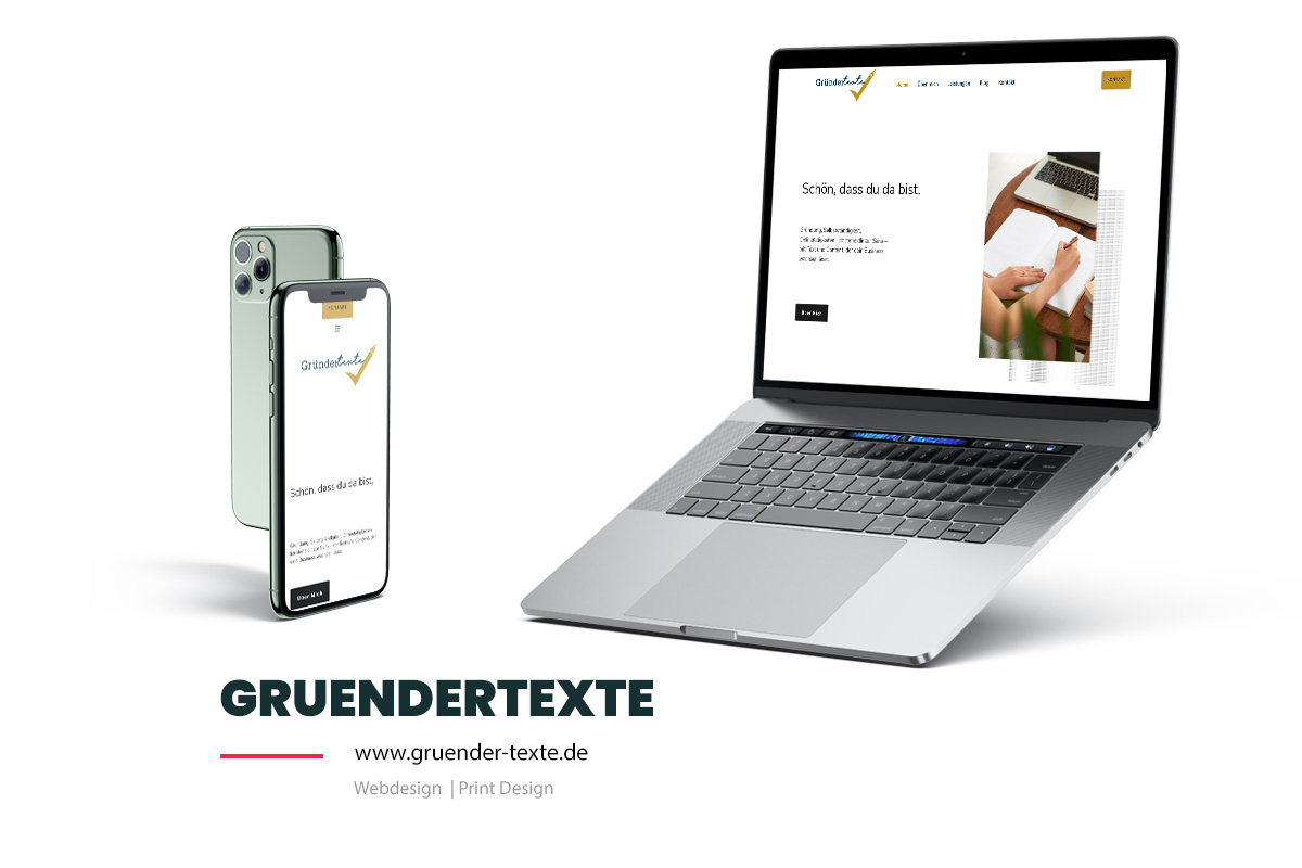 Referenz Showcase Webdesign Gruendertexte