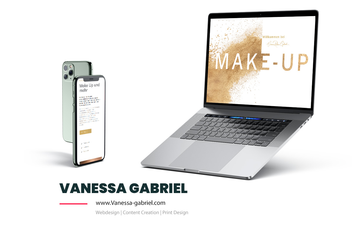 Referenz Showcase Webdesign - Vanessa Gabriel